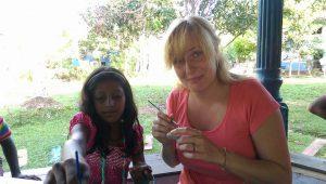 Hárs Anna mentor a Help-faluban (Fotó: Várszegi Eszter)